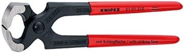 Knipex 51 01 210 Hammerzange schwarz atramentiert mit Kunststoff überzogen 210 mm - 1