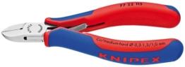 KNIPEX 77 22 115 Elektronik-Seitenschneider mit Mehrkomponenten-Hüllen 115 mm - 1