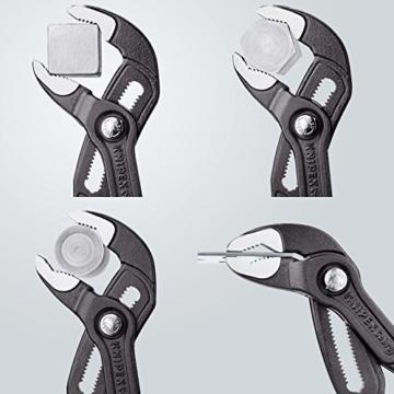KNIPEX 87 01 125 Cobra - Mini-Wasserpumpenzange, Griffe mit Kunststoff überzogen, 125 mm -