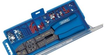 Draper 13658 5-Wege Crimpzange und Kabelschuh-Set -