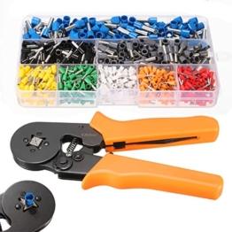 GOCHANGE Zwinge Crimper Zange set mit 800 Stecker Klemmenkasten Tool Kit,Crimpwerkzeuge Verwendet für 0.25-6.0mm mit 800 Kabelschuhe -