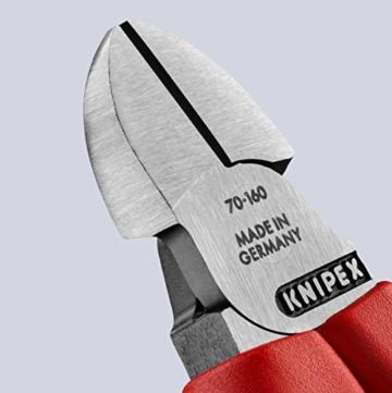 KNIPEX 70 02 160 Seitenschneider, präzises Schneiden bis Ø 4,0 mm, mit Mehrkomponenten-Griffhüllen, 160 mm -