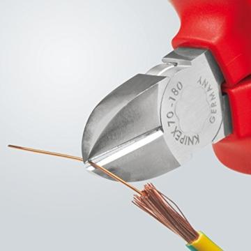 KNIPEX 70 06 180 Seitenschneider, präzises Schneiden bis Ø 4,0 mm, isoliert und VDE-geprüft, 180 mm -