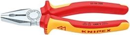 KNIPEX 03 06 200 Kombizange verchromt isoliert mit Mehrkomponenten-Hüllen, VDE-geprüft 200 mm -