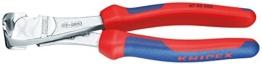 Knipex 67 05 160 Kraft-Vornschneider verchromt mit Mehrkomponenten-Hüllen 160 mm -