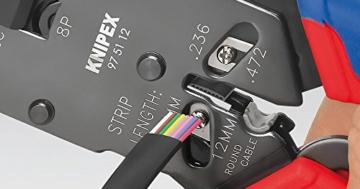 KNIPEX 97 51 12 Crimpzange für Westernstecker brüniert mit Mehrkomponenten-Hüllen 200 mm -