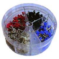 Aderendhülsen-Streudose, isoliert 0,5 - 2,5 mm², 400Stück -