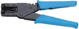 Transmedia Crimpzange Kompression F-Verbinder, Steck-Klemmtechnik, wasserfest FWQ1L -